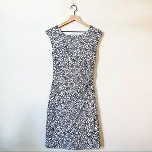 LOFT   rouched cotton dress